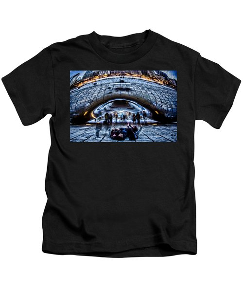 Playful Ladies By Chicago's Bean  Kids T-Shirt