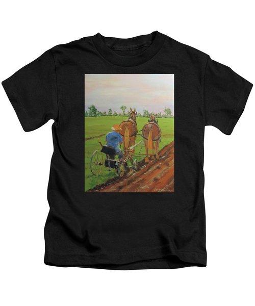 Plowing Match Kids T-Shirt