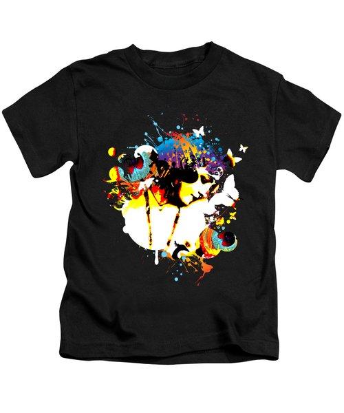 Poetic Peacock Kids T-Shirt