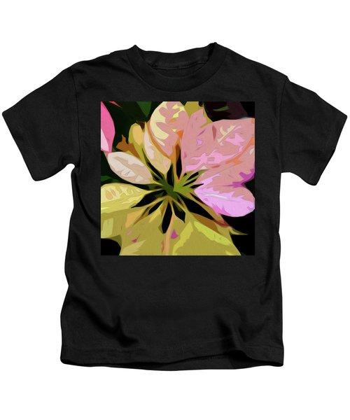 Poinsettia Tile Kids T-Shirt
