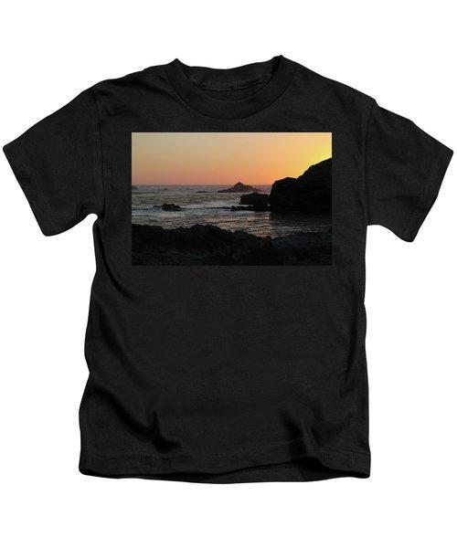 Point Lobos Sunset Kids T-Shirt