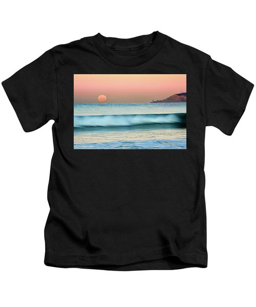 Point Loma Moonset Kids T-Shirt