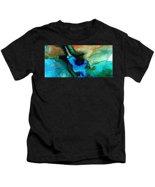 Point Of Power - Abstract Painting By Sharon Cummings Kids T-Shirt