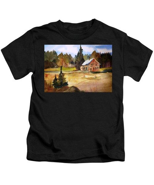 Polebridge Mt Cabin Kids T-Shirt