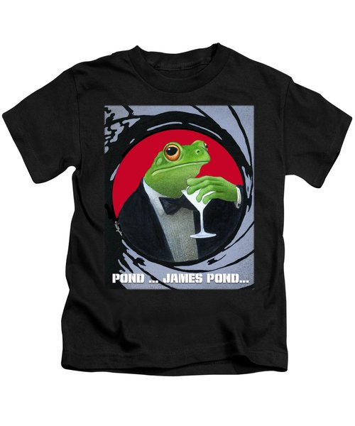 Pond...james Pond... Kids T-Shirt by Will Bullas