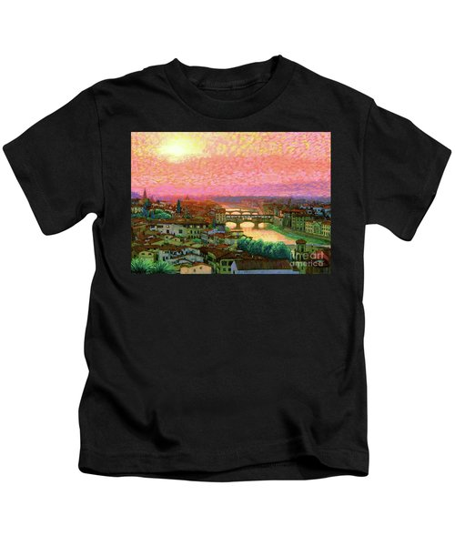 Ponte Vecchio Sunset Florence Kids T-Shirt