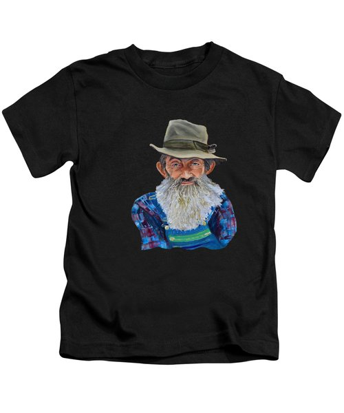 Popcorn Sutton Rocket Fuel- Transparent For T-shirt Kids T-Shirt