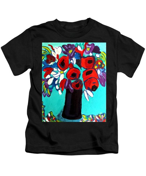 Poppies Red Kids T-Shirt