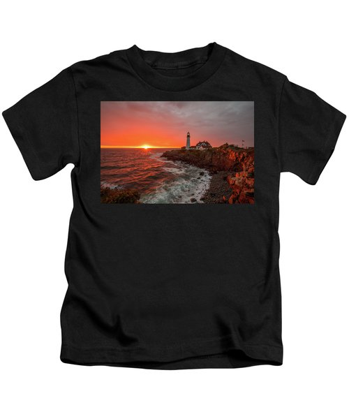 Portland Head Sunrise Kids T-Shirt