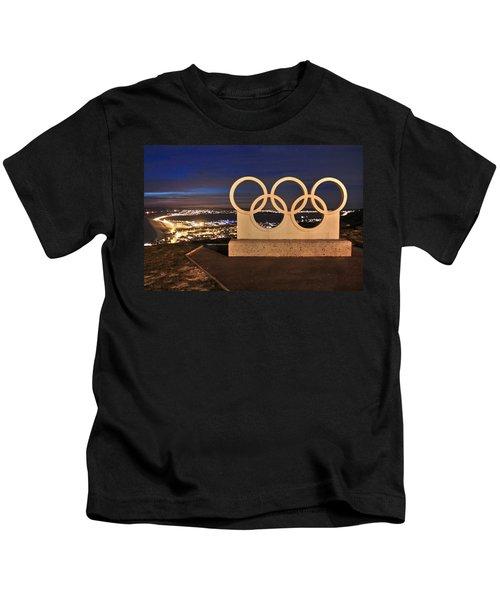 Portland Olympic Rings Kids T-Shirt
