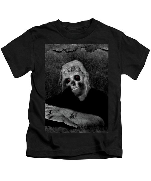 Portrait Of A Zombie Kids T-Shirt