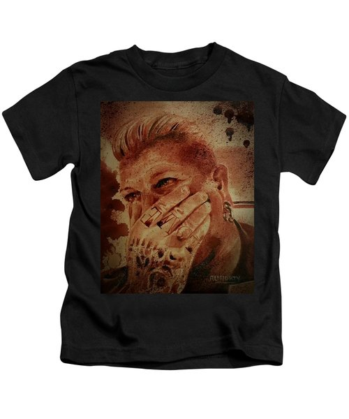 Portrait Of Chris Kross Kids T-Shirt