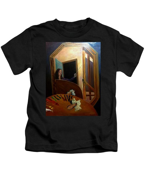 Portrait Of The Artist Kids T-Shirt