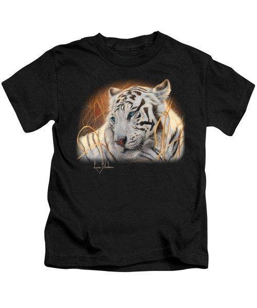 Portrait White Tiger 1 Kids T-Shirt