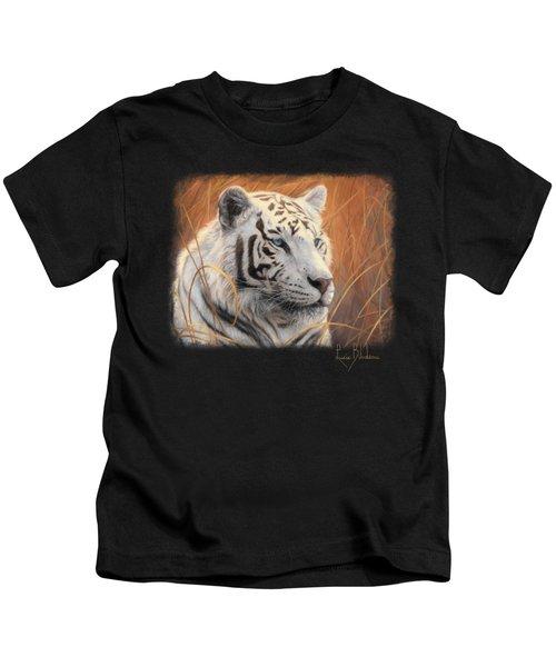 Portrait White Tiger 2 Kids T-Shirt