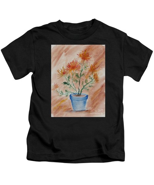 Potted Plant - A Watercolor Kids T-Shirt