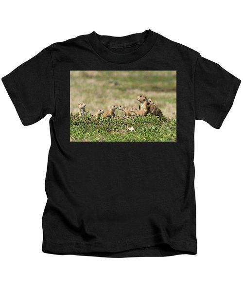 Prairie Dog Family 7270 Kids T-Shirt