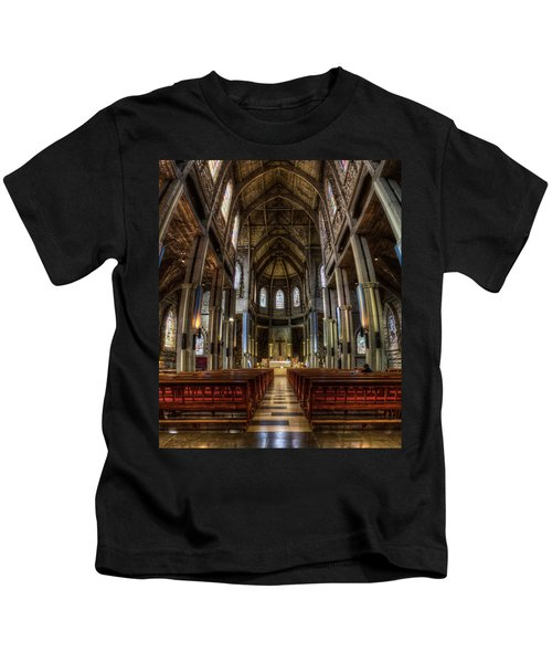 Our Lady Of Nahuel Huapi Cathedral In The Argentine Patagonia Kids T-Shirt