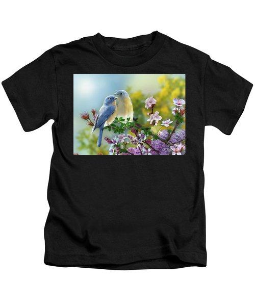 Pretty Blue Birds Kids T-Shirt