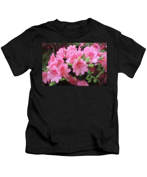 Pretty Pink Azalea Blossoms Kids T-Shirt