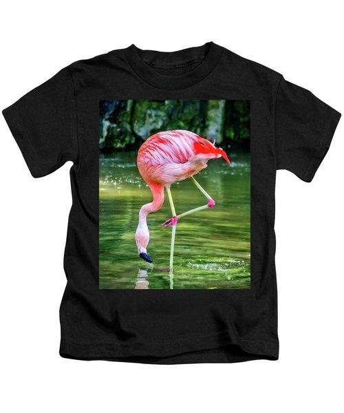 Pretty Pink Flamingo Kids T-Shirt