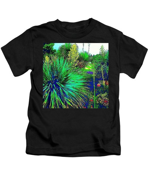 Psychedelic Yuccas. #plant #yucca Kids T-Shirt
