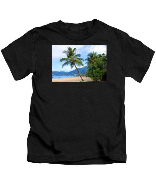 Phuket Patong Beach Kids T-Shirt by Mark Ashkenazi