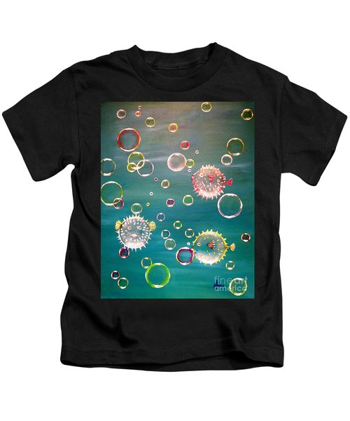 Puffer Fish Bubbles Kids T-Shirt