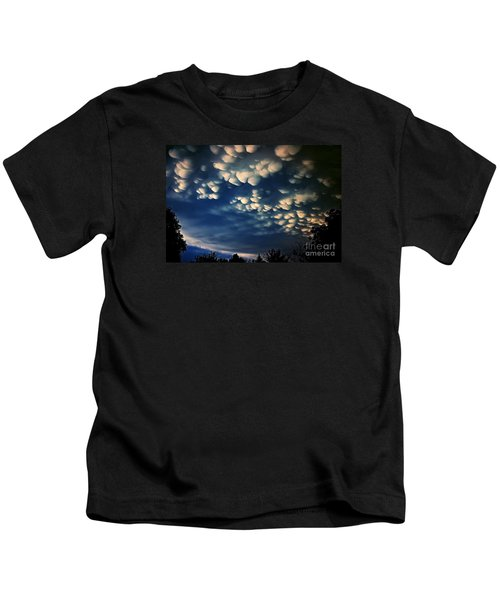 Puffy Storm Clouds Kids T-Shirt