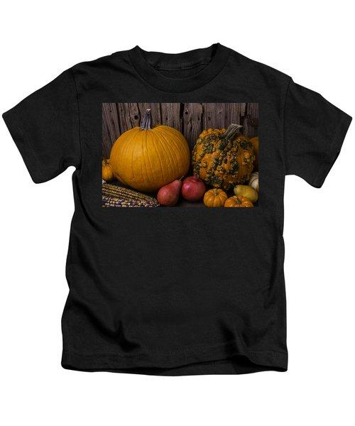 Pumpkin Autumn Still Life Kids T-Shirt