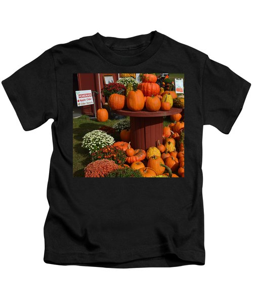 Pumpkin Display Kids T-Shirt