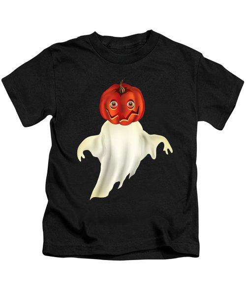 Pumpkin Headed Ghost Graphic Kids T-Shirt