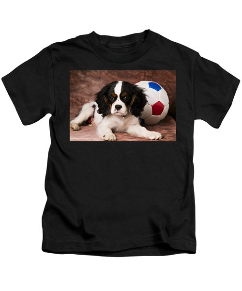 Puppy With Ball Kids T-Shirt