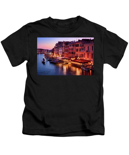 Cityscape From The Rialto In Venice, Italy Kids T-Shirt