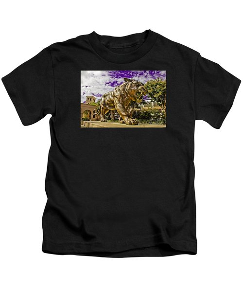 Purple And Gold Kids T-Shirt