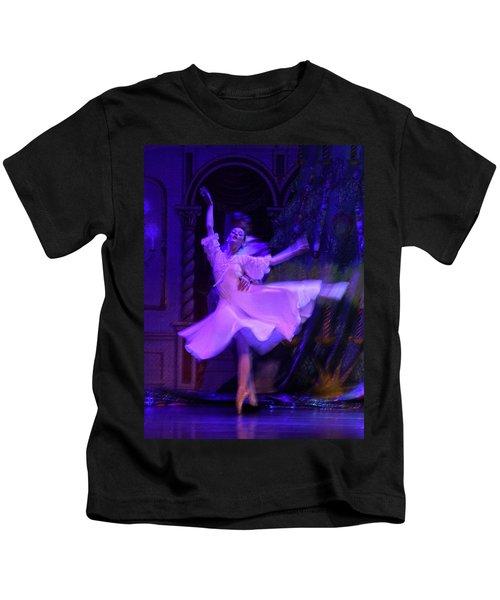 Purple Ballet Dancer Kids T-Shirt