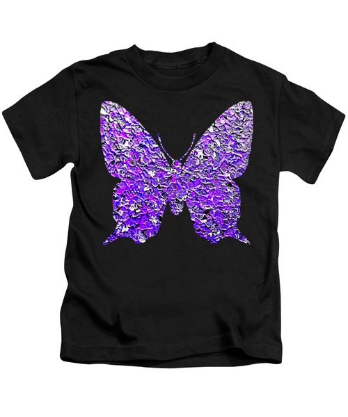 Purple Butterfly  Kids T-Shirt