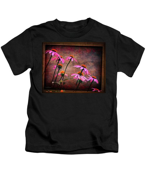 Purple Coneflowers Out Of Alignment  Kids T-Shirt