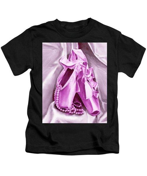 Purple Dancing Shoes Kids T-Shirt
