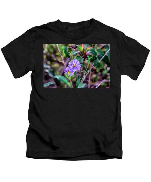 Purple Flower Family Kids T-Shirt