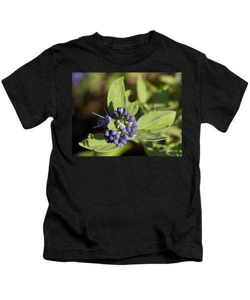 Purple Flowers Kids T-Shirt