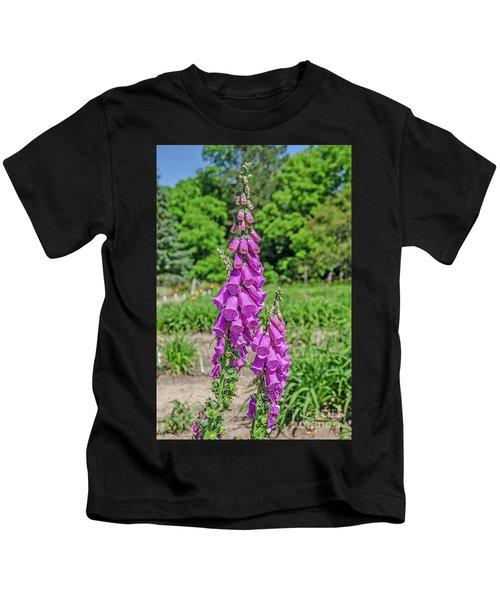 Purple Foxglove Digitalis Purpurea L Kids T-Shirt