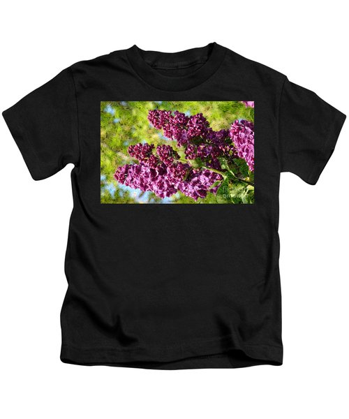 Purple Lilac 1 Kids T-Shirt