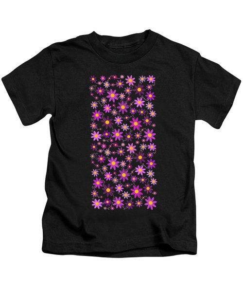 Purple Polka Kids T-Shirt