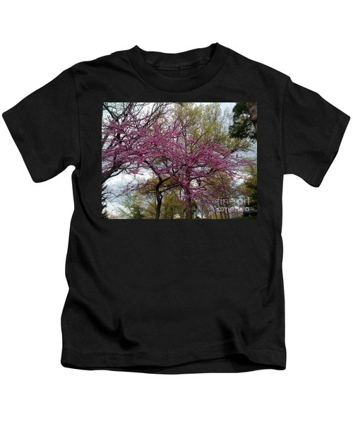 Purple Spring Trees Kids T-Shirt
