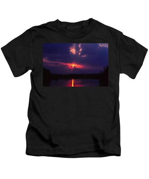 Purple Sunset Kids T-Shirt