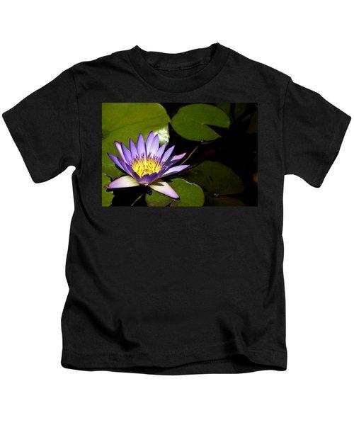Purple Water Lilly Kids T-Shirt
