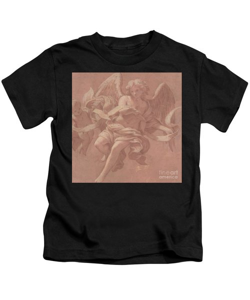Putto And Angel Holding A Banderole, 1706  Kids T-Shirt
