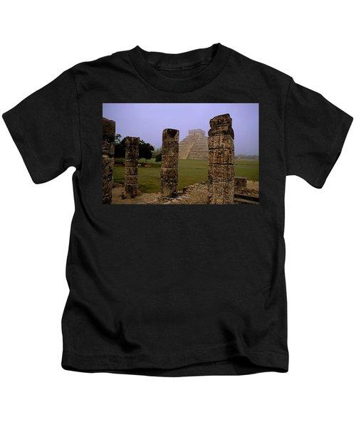 Pyramid At Chichen Itza Kids T-Shirt