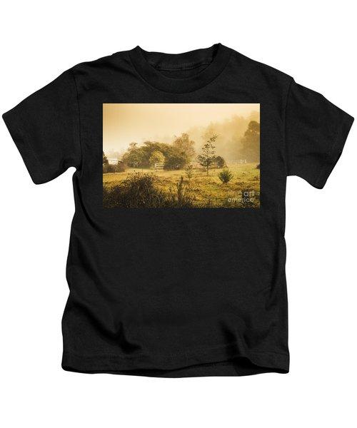 Quaint Countryside Scene Of Glen Huon Kids T-Shirt